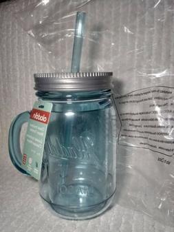 1 NEW Aladdin Classic Teal Insulated Mason Jar Tumblers Mug