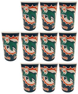 10 Miami Dolphins Football 20oz Cups - BPA Free - Dishwasher