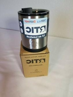 RTIC 12 oz Lowball Tumbler Black with Flip-top Lid Hot or Co