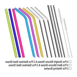 12 Pcs Reusable <font><b>Stainless</b></font> <font><b>Steel