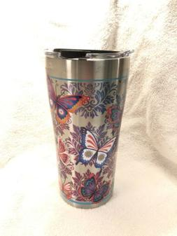 Tervis 1277892 Butterfly Motif Stainless Steel Tumbler with