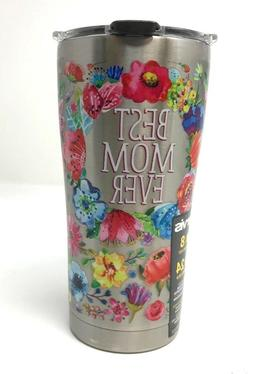 Tervis 1286449 Best Mom Ever Floral Stainless Steel Tumbler