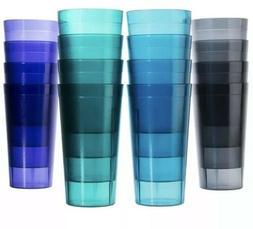 16 Pcs 20 Oz Plastic Tumblers Drinkware Cups Tumbler Set Mul