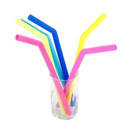 1Pcs Reusable Silicone Drinking Straws , Extra Long Flexible