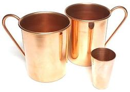 2 Copper Moscow Mule Mugs 20 oz. Solid Copper in Smooth Poli