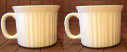 2 CorningWare French White 20oz  Ceramic Mug Soup Bowl Coffe