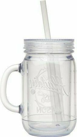 1 NEW Aladdin Classic Clear Insulated Mason Jar Tumbler Mug