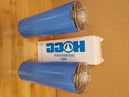 2 pack 20 oz Skinny Tumbler Vacuum Insulated Travel Mug Blue