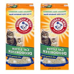 2 Pack Arm & Hammer Cat Litter Deodorizer with Activated Bak