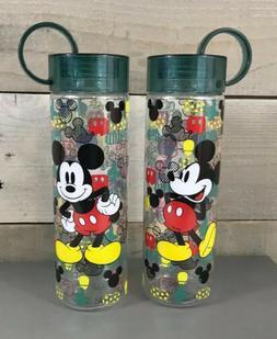 2 DISNEY Store Water Bottle MICKEY MOUSE Acrylic PLASTIC Dri