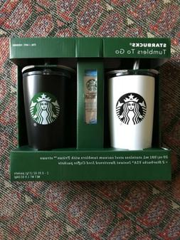 2 Starbucks Tumblers To Go 20 oz Stainless Steel Vacuum, Tri