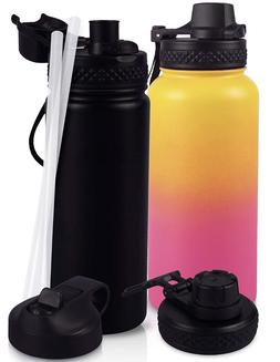 2 Vacuum Insulated Water Bottles Stainless Steel Pur Go BWM-