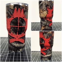 Yeti 20 OZ 30 OZ Camo Deer Hunting Custom Wrapped Cup Ramble