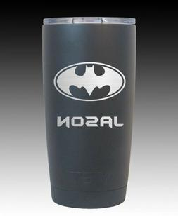 YETI 20 oz cup tumbler engraved Batman free shipping