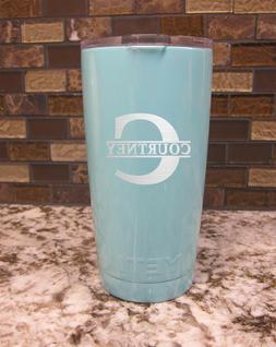YETI  20 oz cup tumbler personalized engraved Monogram initi
