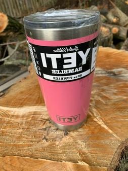 YETI 20 oz  Harbor Pink - Rambler Tumbler with mag slider li