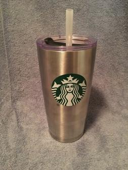 Starbucks 20 Oz Insulated Stainless Steel Logo Cup With Clea