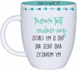 Mary Square 20 oz. Moment of Truth Unique Ceramic Mug - This