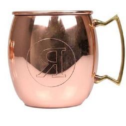 Jodhpuri 20 oz Moscow Mule Mug Initial Letter R Copper Brass