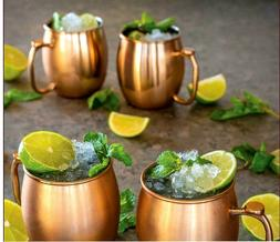 20 oz Moscow Mule Mugs Set of Four, Brushed COPPER Stainless