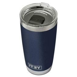 20 oz. Navy Blue Rambler Stainless Steel Tumbler with Magnet