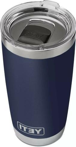 YETI 20 oz  NAVY BLUE   Rambler Tumbler with mag slider lid