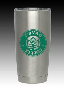 20  oz HOGG Personalized Color logo Starbucks  laser engrave
