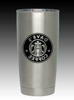 20  oz HOGG Personalized Starbucks  laser engraved free ship