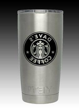 20  oz Personalized Starbucks Yeti  laser engraved free ship