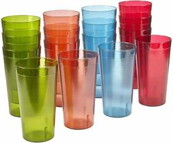 Palmetto 20-ounce Plastic Tumblers | set of 16 in 4 Assorted