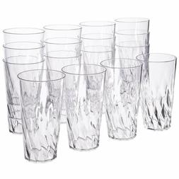 20 Oz Plastic Tumblers Set Clear Drinking Cups BPA Free Shat