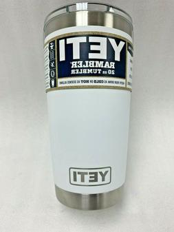 YETI 20 oz Rambler Tumbler with mag slider lid - White