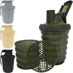 Grenade 20 oz. Shaker Blender Mixer Bottle with 600ml Protei