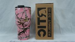 rtic 20 oz stainless steel tumbler hydro dipped true timber