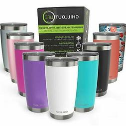 CHILLOUT LIFE 20 oz Stainless Steel Tumbler with Lid - Doubl