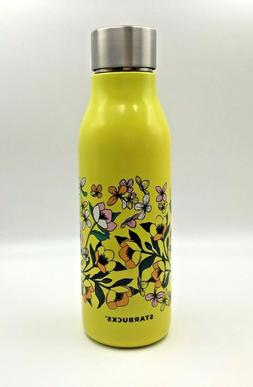 Starbucks 20 oz. Stainless Steel Water Bottle Yellow Floral