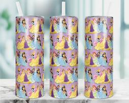 20 OZ SUBLIMATED DISNEY PRINCESSES THEME MUG CUP TUMBLER