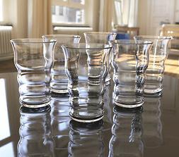 QG 20 oz Trumpet Shaped Acrylic Plastic Glass Juice Tea Cup