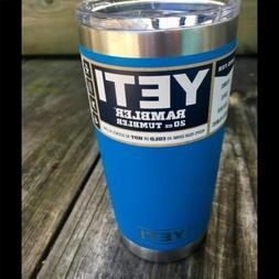 "YETI 20 oz Tumbler MAGSLIDER Lid Limited Edition ""TAHOE BLUE"