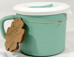 CorningWare 20 oz. Turquoise Hammered Bing Mug Soup Stew Mea