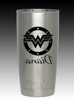 YETI 20 oz Wonder Woman YETI cup laser engraved  personalize