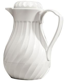 Miles Kimball 20 oz White Insulated Coffee Carafe / Pitcher