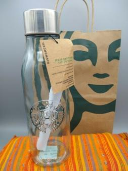 2018Starbucks 20oz Recycled Glass Water Bottle Stainless Ste