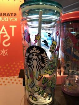 Starbucks 2019 China Summer Love Music 20oz Double Glass Tum