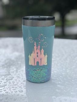 20oz Custom Glitter Disney Castle Tumbler