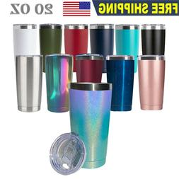 20OZ Stainless Steel Tumbler Slider Lid Double Wall Vacuum I