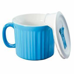 Corningware 20oz Light Blue Meal Mug with Lid