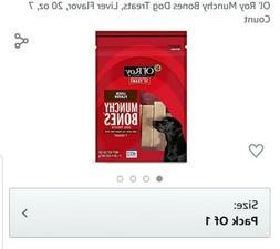20oz Munchy Bones Dog Treat Ol' Roy Chicken Flavor Dental Ca