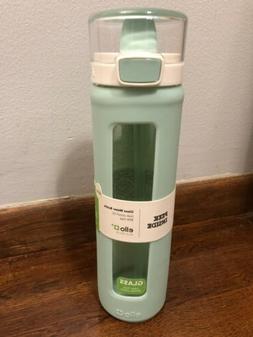 Ello 20oz Peek Inside Glass/Silicone Water Bottle with Straw