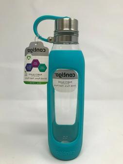 Contigo 20oz Purity Glass Water Bottle Scuba Aqua Teal Green
